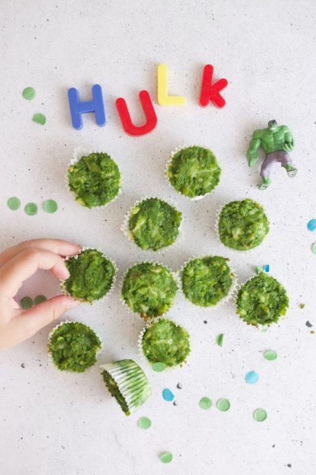Wholesome Child: 4-Ingredient Hulk Muffins